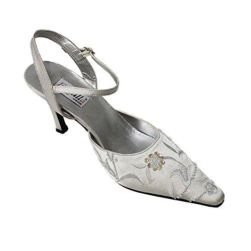 FARFALLA con cuentas zapatos bordado de plateado
