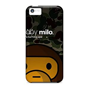Apple Iphone 5c ISk12527pfMZ Customized Realistic Baby Milo Skin Anti-Scratch Hard Phone Covers -JoannaVennettilli