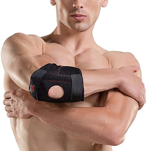 バスケットボールテニス肘パッドスポーツ保護ワインディング調整可能なスプリングサポート肘関節保護アーム肘シース