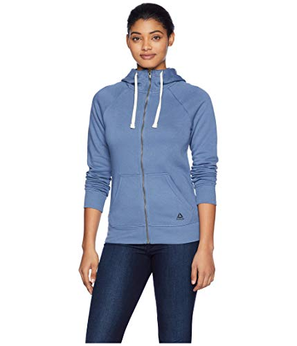 - Reebok Element Fleece Full Zip, Blue Slate, Large
