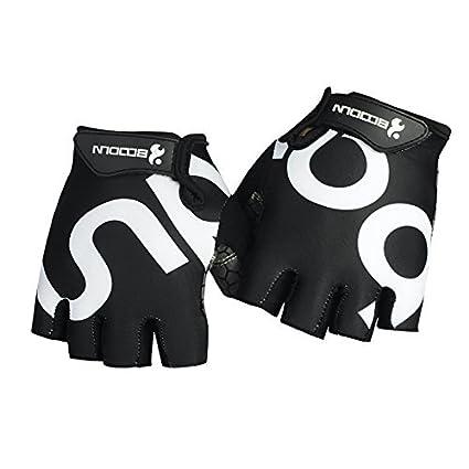 HiCool - Guantes de medio dedo para deportes resistente a la abrasión (Levantamiento de Pesas