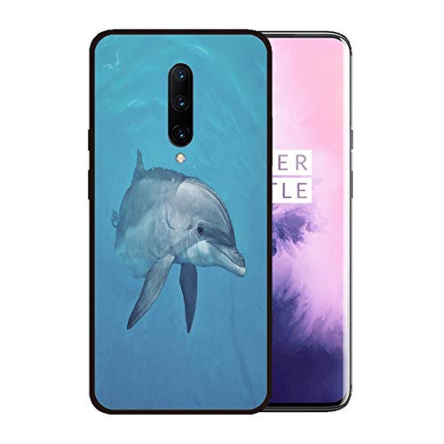 - Case for OnePlus 7 pro,Silicone Cover and Tempered Glass 2 Materials,Non-Slip, Anti-Drop, Anti-Scratch,Depict- Curious Female Atlantic Bottlenose Dolphin