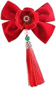 Kids Baby Girls Lunar Chinese New Year Hairpin Hair Clip Headwear Accessories