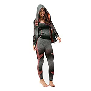 3PC Ladies Gym Suit Hooded TOP, Vest, Legging, Sport Yoga Workout Fitness WEAR