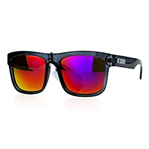 Kush Mens Neon Pop Horn Rim Sport horned Sunglasses Slate Purple