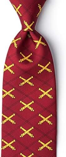 Artillery Red Silk Tie