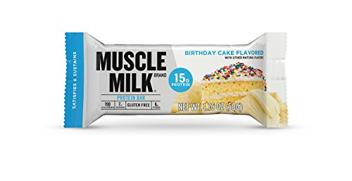 Muscle Milk Protein Bar, Birthday Cake, 15g Protein, 12 Count