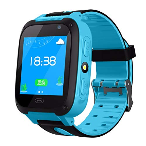 Goldseller Smart Watch for Kids,One-Button SOS with Games Learning Numbers Unlocked 2G GSM Two-Way Calling Phone Audio Alarm LBS Tracker Watch,for Children Boys Girls -