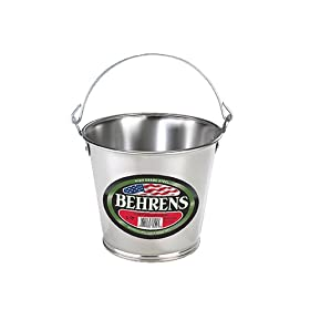 Behrens 1VP Vintage Steel Pail with Fixed Handles,...