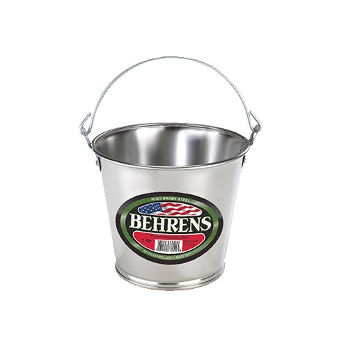 Behrens 1VP Vintage Steel Pail with Fixed Handles, 1 quart