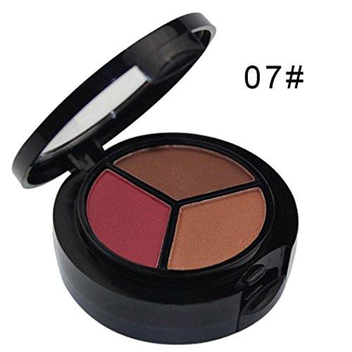 Eyeshadow Palette,Datework 3 Colors Professional Natural Matte Makeup Eye Shadow Smoky Cosmetic Set (C)
