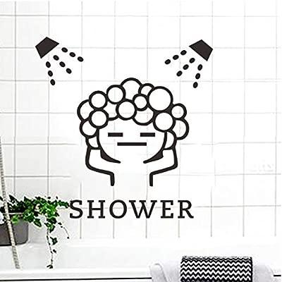 Baby Love Shower Baño Burbuja Pegatinas de pared Puerta corrediza ...