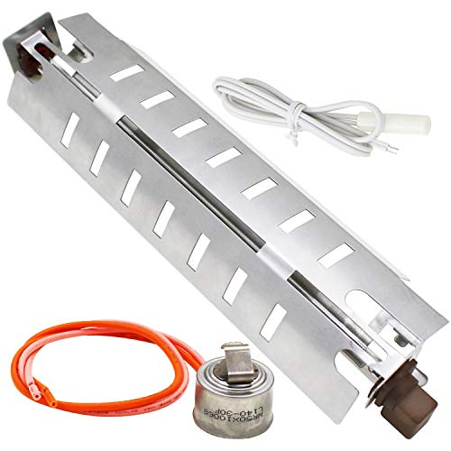 YEECHUN Refrigerator Defrost Replacement Assembly for GE - WR51X10055 Defrost Heater, WR55X10025 Temperature Sensor and WR50X10068 Defrost Thermostat
