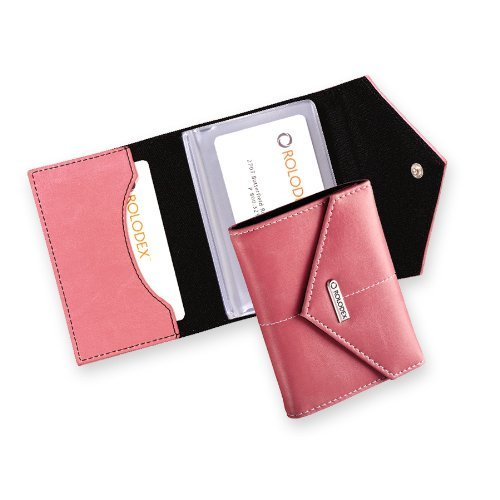 Rolodex Pink Ribbon Business Card Case, 36-Card (1734451) by Rolodex