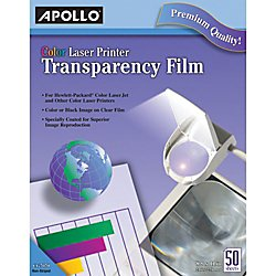 Laser Color Printer Magicolor (Apollo Transparency Film for Laser Printers, Color, 50 Sheets/Pack (VCG7070))