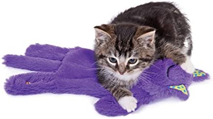 Petstages Purr Pillow Cat Toy For Nightime Play & Calm Comfort Featuring Soothing Noisemaker, Soft Plush Material, Medium, Purple 8
