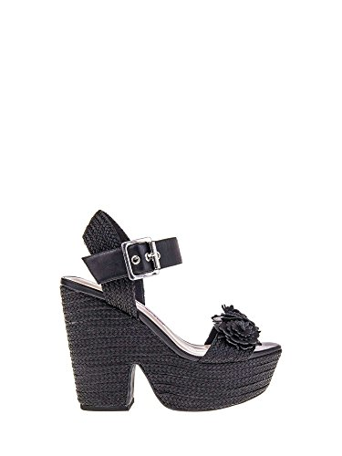 FornarinaWomen's Sandals with high Wedge Pattern of Black Color Marion Article PE18MA1838C000 New Spring Summer 2018 Collection - Womens Fornarina Wedge