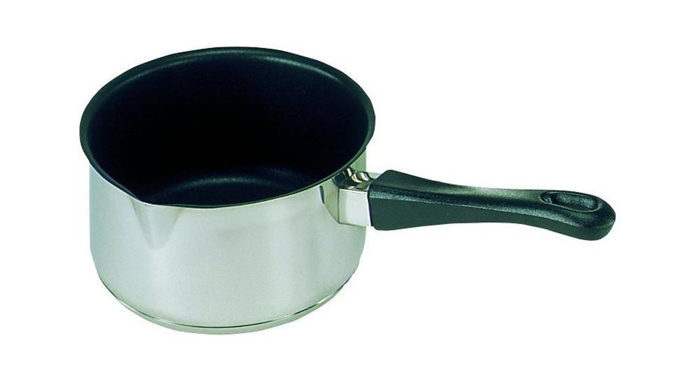 Kr/üger Edelstahl-Stieltopf 14 cm Silber,