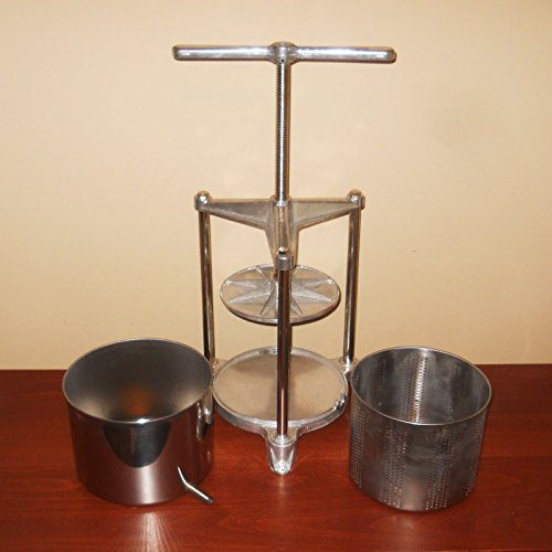WINE PRESS & FRUIT JUICER FERRARI GRANDE 5 QUART HEAVY DUTY Stainless Steel & Aluminum Italian Squeezer by Ferrari