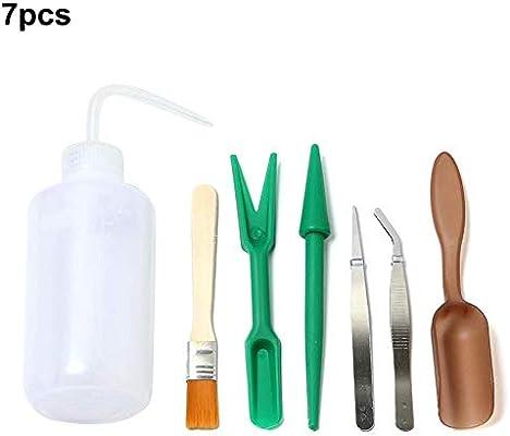 gaeruite Mini Juego de Herramientas de jardín, 7PCS Kit de Herramientas de Mano para jardín Bonsai Tools Kit: Amazon.es: Hogar