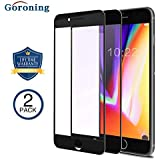 GORONING [2 PACK] iPhone 8 Plus / 7 Plus 3D Screen Protector [Edge to Edge Coverage] Premium Tempered Glass Screen Protectors for Apple iPhone 8 Plus / 7 Plus Bubble Free Case Friendly (Black)