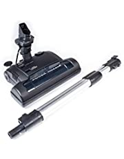 Central Vacuum Electric Powerhead Nozzle Brush Attachment with Integrated Telescopic Wand - Designed to fit Kenmore, Canavac, Husky, Vacuflo, DuoVac, and More.
