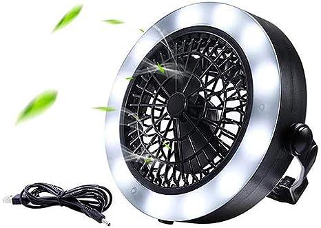 RSGK Luz de Camping USB Powered Carpa Luz con Ventilador de Techo ...