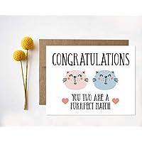 Wedding Card Purrfect Match Cats