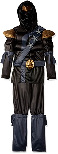 Black Ninja Classic Muscle Costume, Medium (7-8) ()