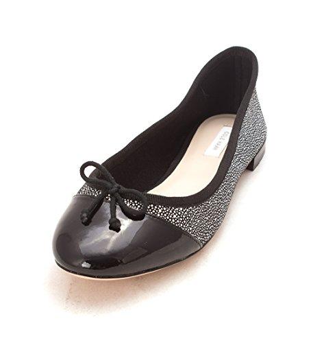 Flats Womens Toe Slide Black Cole White Haan Karensam Dots Cap 45IxwaYpq