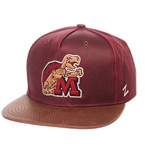 - NCAA Maryland Terrapins Adult Men Tribute Heritage Collection Hat, Adjustable, Team Color/Cracked Leather