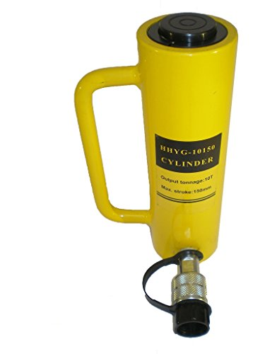 10 tons 6'' stroke Single Acting Hydraulic Cylinder Lifting Jack Ram YG-10150 by HYDRAFORE