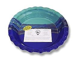 Clay In Motion Handmade Ceramic Deep Dish Pie Plate - Mystic Waters