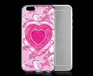 Light weight with strong PC plastic case for iphone 6 plusd 5.5 Patterns Patterns Heart Camo