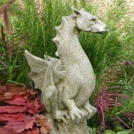 Figuras de dragón y piedra Dragón para el jardín: Amazon.es: Jardín
