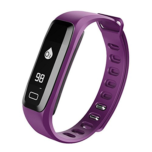 Auntwhale IP67 Waterproof Smart Band Android,IOS,Information Push, Heart Rate Monitoring, Pedometer, Sleep Monitoring - Purple by Auntwhale