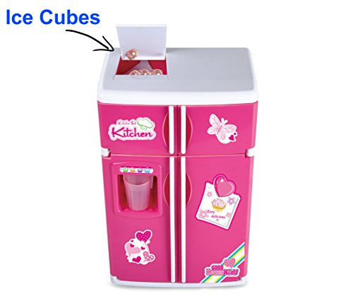 Dream Kitchen Reviews: Liberty Imports Dream Kitchen Mini Refrigerator Pink Toy Fridge Playset For Dolls With Play Food