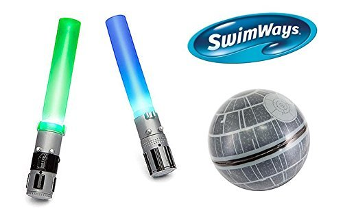 Swimways Lightsaber and Death Star Hop Ball Pool Gift Set by SwimWays