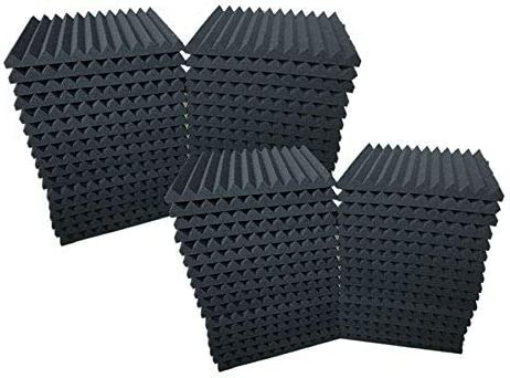 "Amazon.com: 48 Pack Acoustic Foam Panel Wedge Studio Soundproofing Wall Tiles 12"" X 12"" X 1"": Musical Instruments"