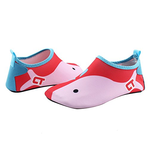 Boys Aqua Big Kid Water Eercise Barefoot Red Quick Girls Kid Little SENFI Beach Toddler Dry Shoes Shoes Mutifunctional Pool dawE87qx