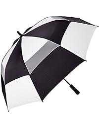 Auto Open Vented Golf Stick Umbrella, Black/White, One Size