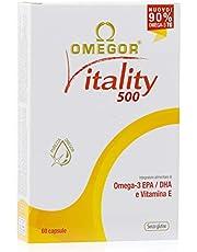 Omega 3 OMEGOR® Vitality 1000 - 90% van Omega-3 TG! IFOS gecertificeerd sinds 2006. 400 mg EPA en DHA per capsule in een verhouding van 2: 1. Min. Structuur 90% triglyceriden en moleculaire destillatie | 60 cps van 500