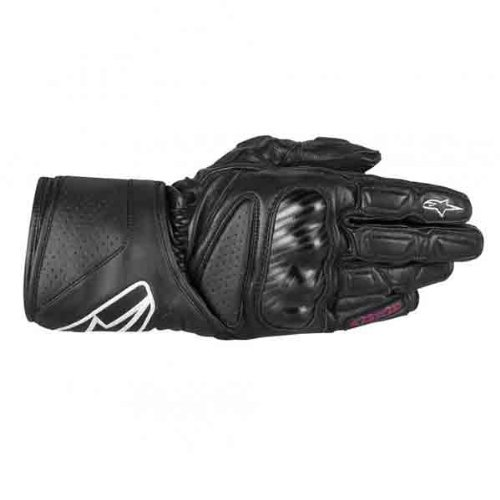 Alpinestars Stella SP-8 Womens Gloves , Gender: Womens, Apparel Material: Leather, Distinct Name: Black, Primary Color: Black, Size: Sm 3518313-10-S