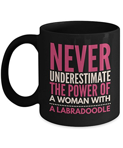 Never Underestimate The Power Of A Woman With A Labradoodle Mug - Coffee Cup - Dog Lover Gifts and Accessories