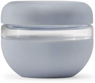 W&P Porter Seal Tight Glass Lunch Bowl Container w/ Lid | Slate 16 Ounces | Leak & Spill Proof, Soup & Stew Food Storage, Meal Prep, Airtight, Microwave and Dishwasher Safe, BPA-Free Glass