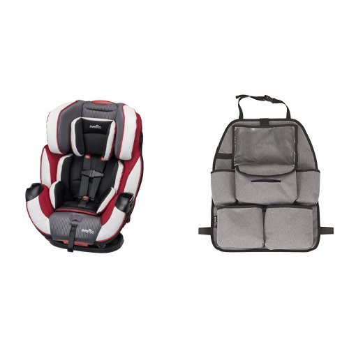 Evenflo Symphony Elite All-In-One Convertible Car Seat, Ocala with Deluxe Car Backseat Organizer, Grey Melange ()