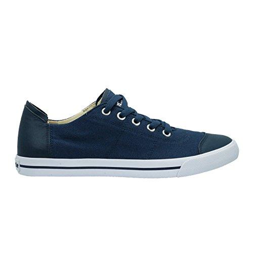Burnetie Heren Blauwe Teen Hugger Lage Top Sneaker