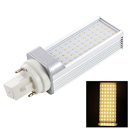 Luces bulbos, bombillas LED, G24 6 W 55 SMD 3014 600LM Luz Blanca Cálida