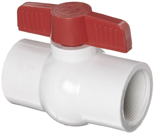 Hayward QVC1015TSEW Series QVC Compact Ball Valve, Threaded End, White, 1-1/2