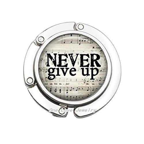 - Inspirational Sayings Jewelry Quote Wearable Art Quote Bag Hook Charm Never Give Up,Encouragement Gift to Never Give Up Purse Hook,TAP385